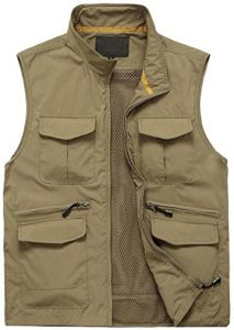 Gihuo Men's Multi Pockets Fishing Vest